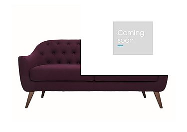 Lexi 3 Seater Fabric Sofa in Andorra 007 Wine on Furniture Village