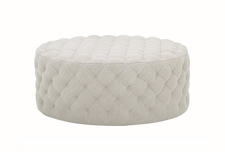 Haystack Fabric Footstool in Diego 005 Natural on Furniture Village