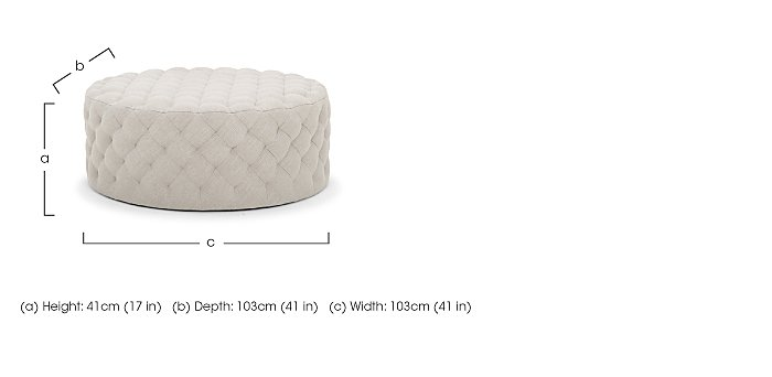 Haystack Fabric Footstool in  on Furniture Village