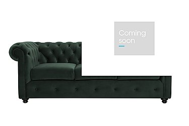 Harper 3 Seater Fabric Sofa in Stax 015 Dark Green on Furniture Village