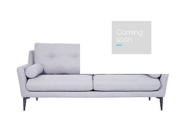 Pia 3 Seater Fabric Sofa in Ex1704 18 Light Grey on Furniture Village