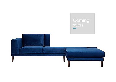 Aria 3 Seater Chaise End Sofa in Ex-9209-38 Teal on Furniture Village