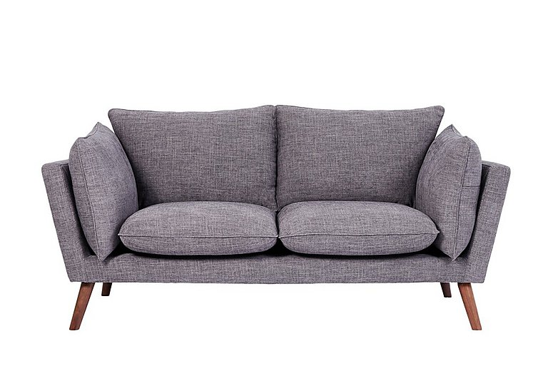 Luca 2 Seater Fabric Sofa in Sense 39 Steel on Furniture Village