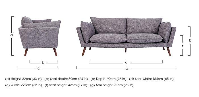 Luca 3 Seater Fabric Sofa in  on Furniture Village