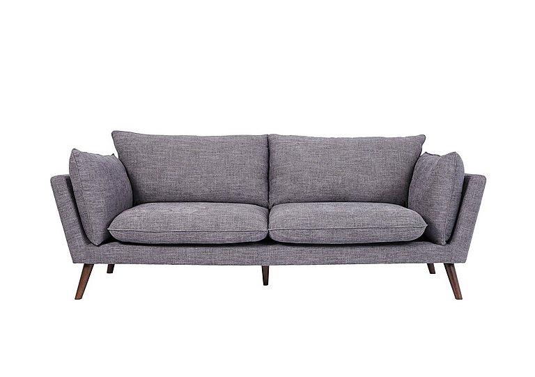 Luca 3 Seater Fabric Sofa in Sense 39 Steel on Furniture Village
