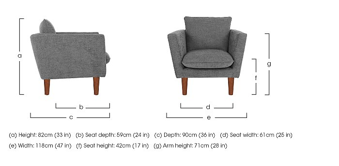 Luca Fabric Armchair in  on Furniture Village