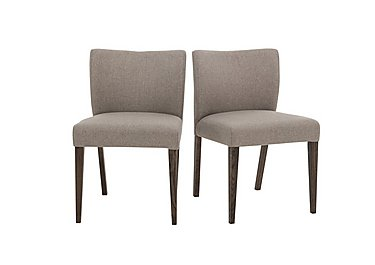 Havana Pair of Fabric Dining Chairs in Pebble Grey on Furniture Village