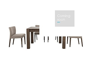 Havana Small Table and 4 Fabric Chairs in Pebble Grey on Furniture Village