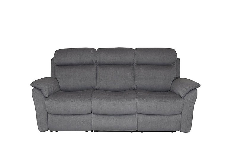 Revive 3 Seater Fabric Manual Recliner Sofa - Only One Left! in 062 - Jte-1010 Grey on Furniture Village