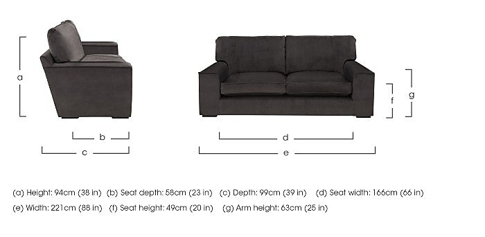 The Avenue Collection 5th Avenue 3 Seater Fabric Sofa - Only One Left! in  on Furniture Village