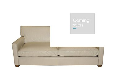 Fulham Broadway 3 Seater Leather Sofa - Only One Left! in Riders White Wo on Furniture Village