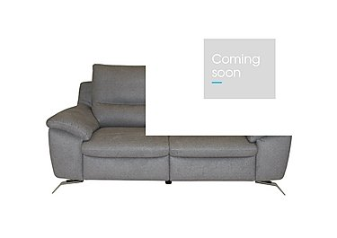 Puglia 2.5 Seater Fabric Power Recliner Sofa - Only One Left! in Levante 78216101 Lt Grey on Furniture Village