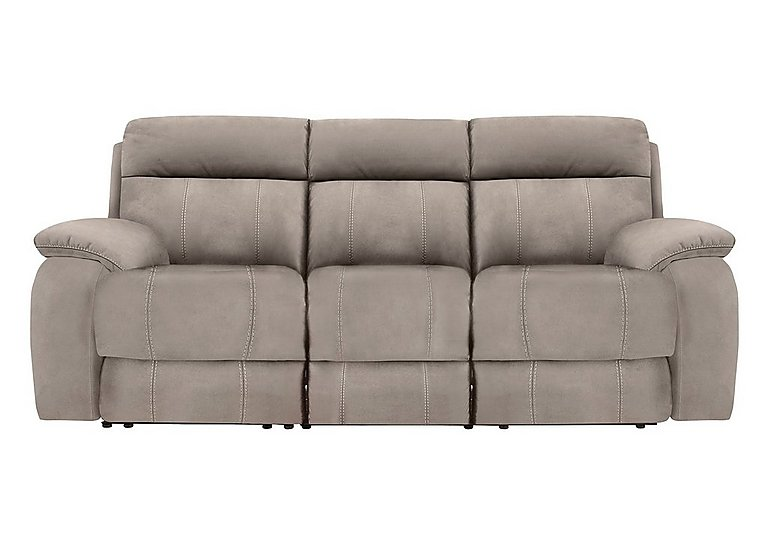 Moreno II 3 Seater Fabric Power Recliner Sofa - Only One Left! in Bfa-Blj-R946 Silver Grey on Furniture Village