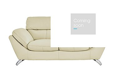 Salvador 3 Seater Leather Sofa - Only One Left! in 200/24 Atlantic Cloud on Furniture Village
