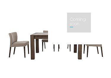 Havana Medium Table and 4 Fabric Chairs in Pebble Grey on Furniture Village