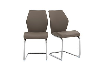 Motion Pair of Dining Chairs in Taupe on Furniture Village