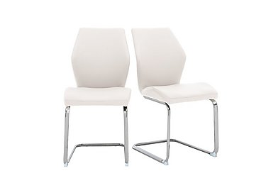 Motion Pair of Dining Chairs in White on Furniture Village