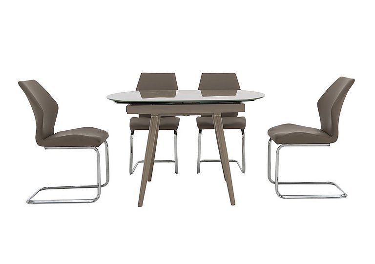leather top chair and glass ideas table space room saving dining with square upholstered chairs e