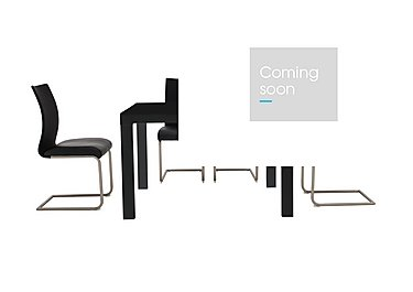 Glide Table and 4 Chairs in Black on Furniture Village