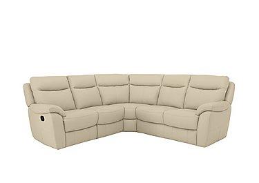 Snug Leather Recliner Corner Sofa in Bv-862c Bisque on Furniture Village