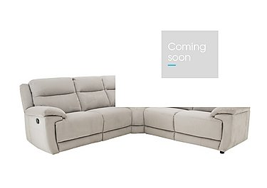 Touch Fabric Recliner Corner Sofa in Bfa-Blj-Rt946 Silver Grey on Furniture Village