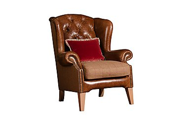 Jefferson Wing Chair in Galv Bark Merln Earth Mixa Dw on Furniture Village