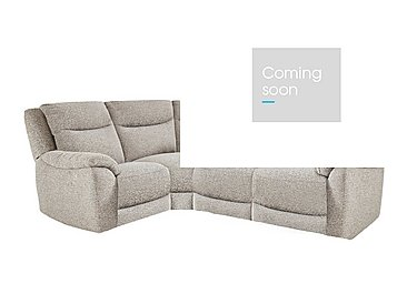 Bounce Compact Fabric Recliner Corner Sofa in Fab-Chl-R25 Chilli Biscuit on Furniture Village