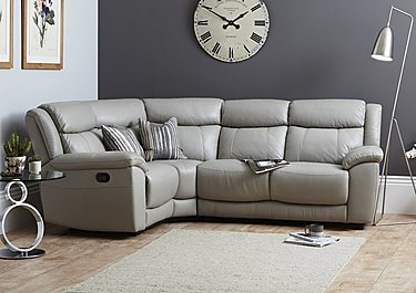Bounce Compact Leather Recliner Corner Sofa in  on Furniture Village