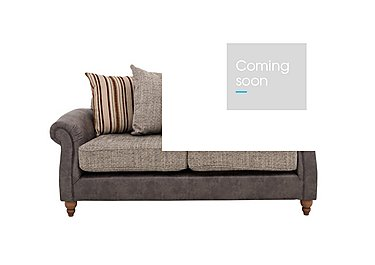 Chinook Fabric Seat 2 Seater Pillow Back Sofa in Teo Charcoal Autumn Stone Col2 on Furniture Village
