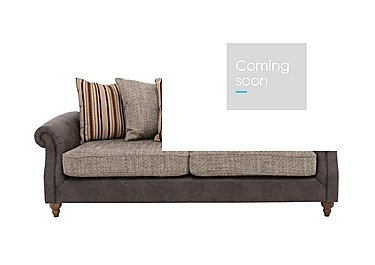 Chinook Fabric Seat 3 Seater Pillow Back Sofa in Teo Charcoal Autumn Stone Col2 on Furniture Village