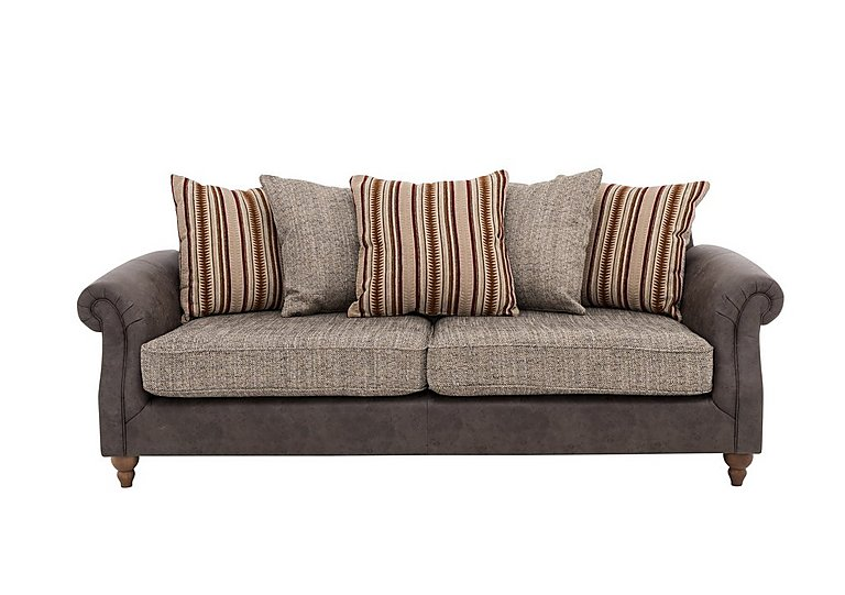 Bon Chinook Fabric Seat 3 Seater Pillow Back Sofa