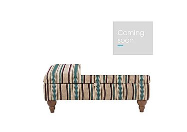 Chinook Fabric Footstool in Teo Charcoal Aubergine St Col2 on Furniture Village