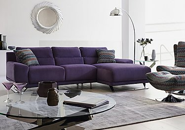 Seville Chaise Fabric End Sofa in  on Furniture Village