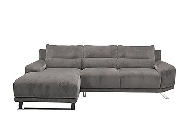 Seville Chaise Fabric End Sofa in Eider 80412 Elephant on Furniture Village