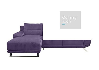 Seville Chaise Fabric End Sofa in Eider 80415 Heather on Furniture Village