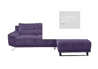 Seville Fabric Chaise End Sofa in Eider 80415 Heather on Furniture Village