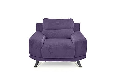 Seville Fabric Armchair in Eider 80415 Heather on Furniture Village