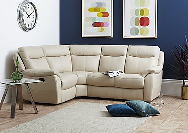 Snug Compact Leather Recliner Corner Sofa in  on Furniture Village