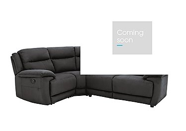Touch Compact Fabric Recliner Corner Sofa in Bfa-Mad-R03 Dark Grey on Furniture Village