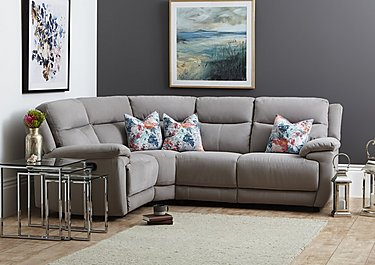 Touch Compact Leather Recliner Corner Sofa in  on Furniture Village