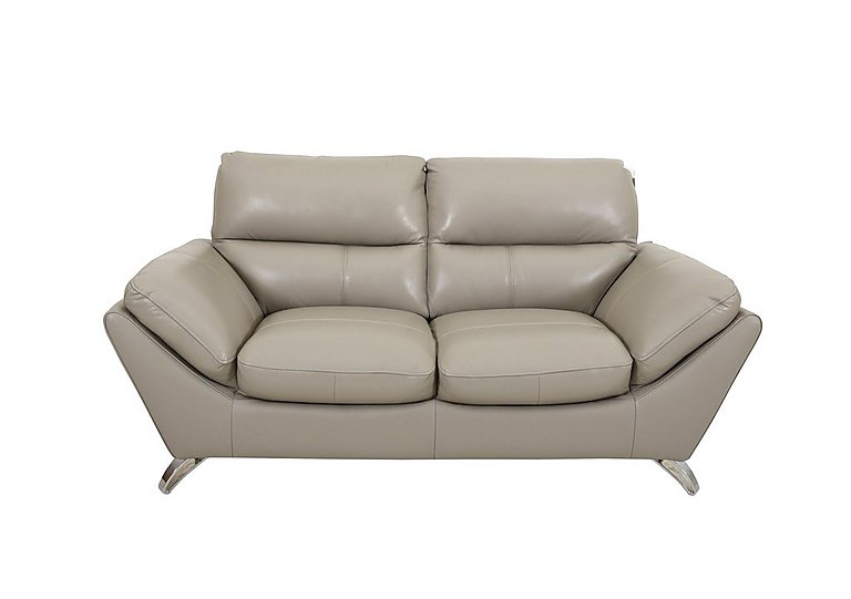 Salvador 2 Seater Leather Sofa in 60/23 Lead Grey on Furniture Village