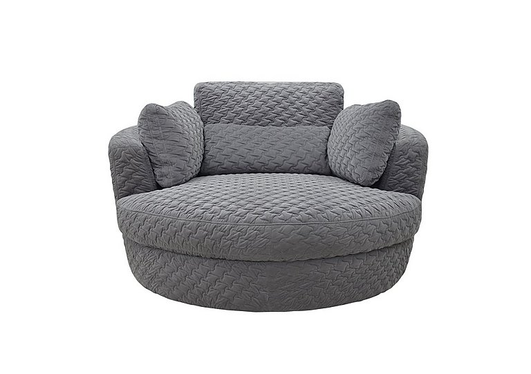 Ronda Fabric Swivel Armchair - Furniture Village