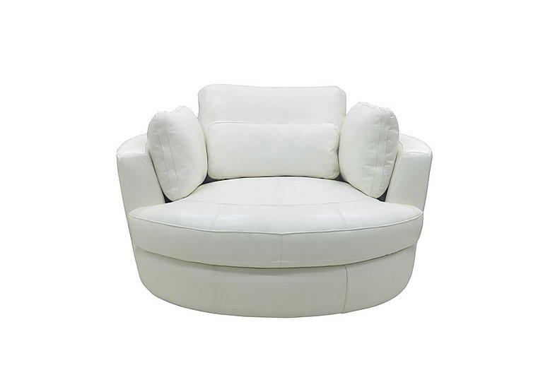 Ronda Leather Swivel Armchair Furniture Village