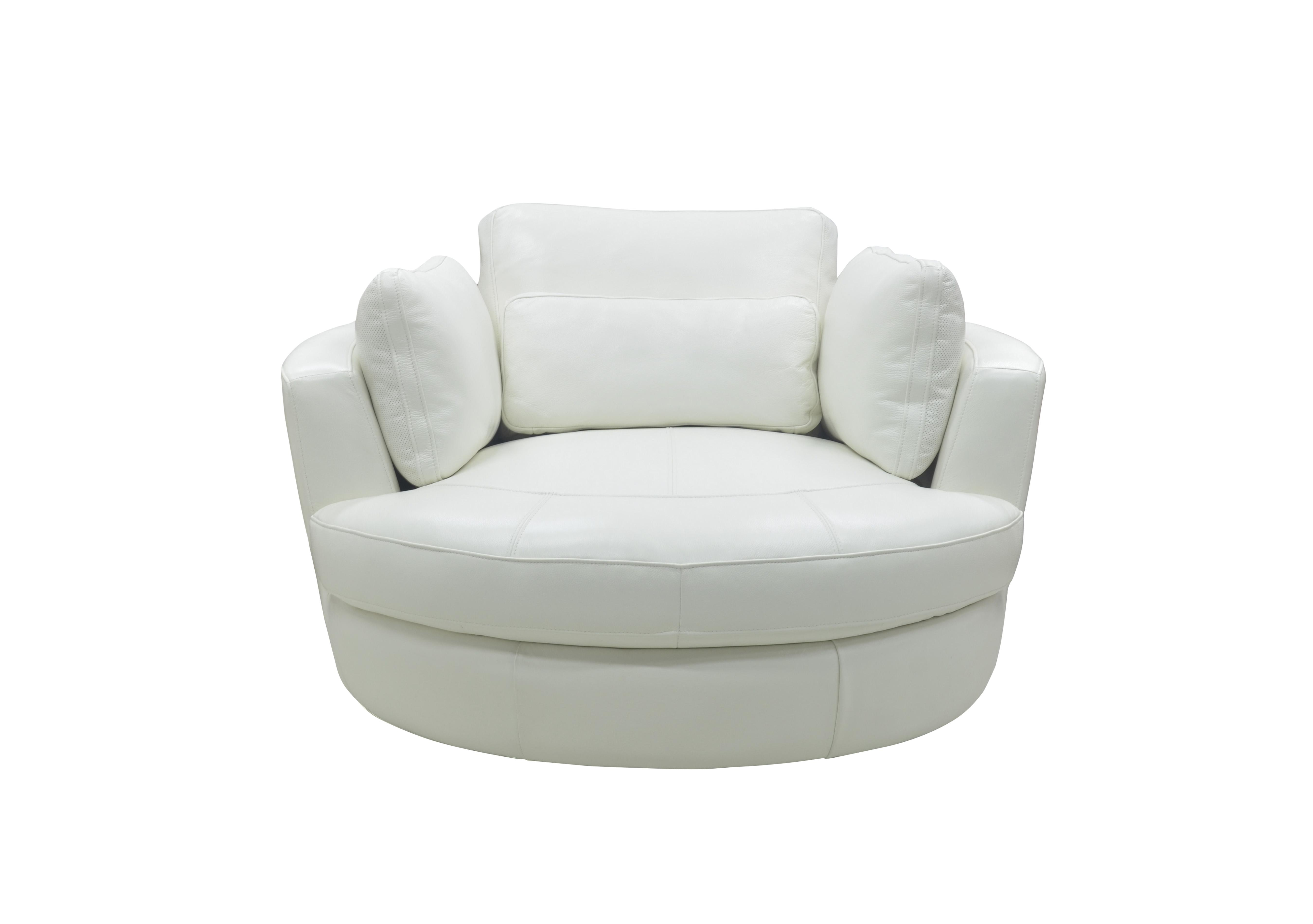 Ronda Leather Swivel Armchair