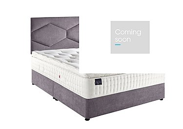 Platinum Seal Divan Set in Divan Mauve - Matt Grey on Furniture Village