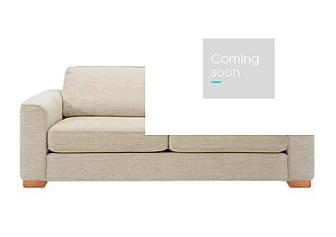Eleanor Large Fabric Sofa - Only One Left! in Kento 03 Crema Light Feet on Furniture Village