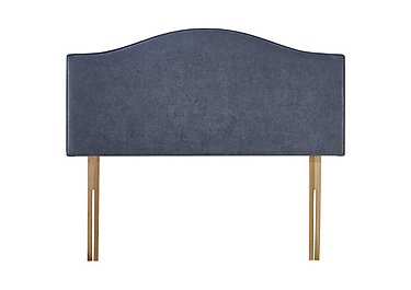 Hepburn Strutted Bed Fix Headboard in Midnight Denim on Furniture Village