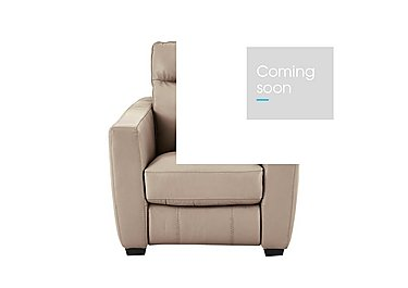 Compact Collection Midi Leather Armchair - Only One Left! in 007 Nc-039c Pebble on Furniture Village