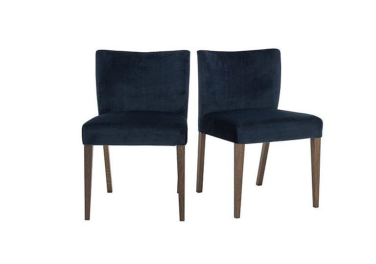 Velvet Dining Chairs Part - 43: Havana Pair Of Velvet Dining Chairs