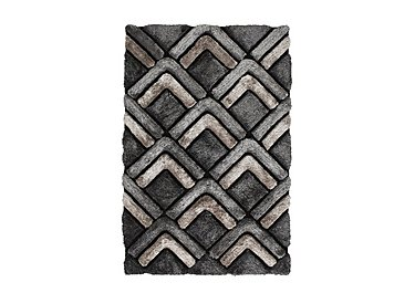 Noble House Chevron Rug in Grey on Furniture Village